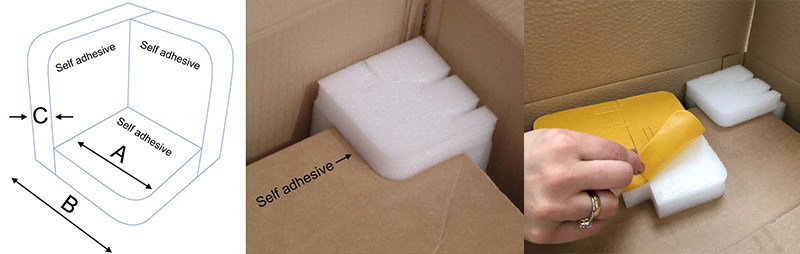 Self Adhesive Backed Foam Corner Protectors