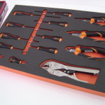 Orange & Black Foam tool tray