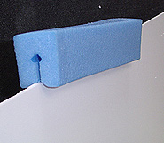 Foam edge protector for windscreenr